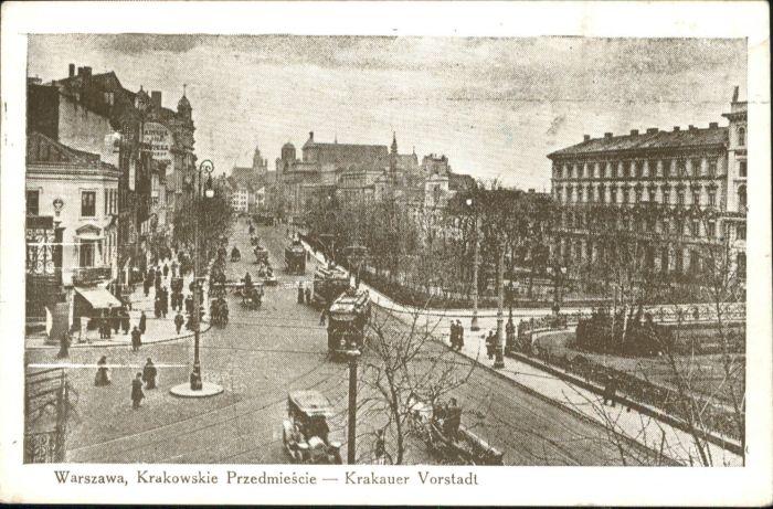 Warszawa Warschau Krakauer Vorstadt Strassenbahn  *