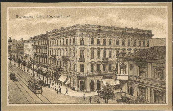 Warszawa Warschau Marszalkowska Strassenbahn  *