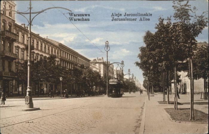 Warschau Warszawa Jerusalemer Allee Strassenbahn *