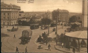 Warszawa Warschau Zjazd Strassenbahn *