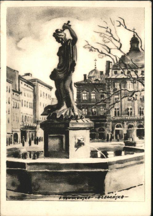 Lemberg Lwow Lviv Amphitritebrunnen Ringplatz * / Ukraine /