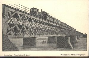 Warschau Warszawa Eisenbahn Bruecke *