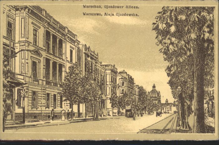 Warschau Warszawa Ujasdower Allee x