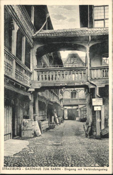 Strasbourg Alsace Strassburg Gasthaus zum Raben  *