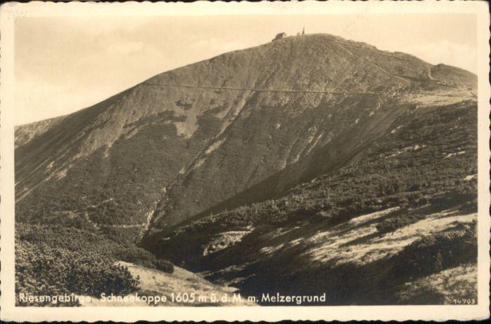 Melzergrund Riesengebirge Schneekoppe *