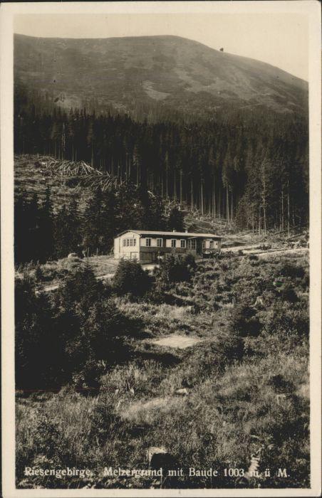 Melzergrund Riesengebirge Baude *