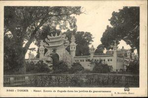Hanoi Tonkin Entree Pagode Jadins Gouvernement *