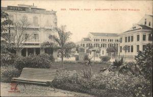 Hanoi Tonkin Jardin public devant Hotel Metropole *