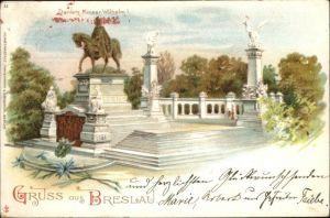 wx34133 Breslau Niederschlesien Breslau Denkmal Kaiser Wilhelm I x Kategorie. Wroclaw Alte Ansichtskarten