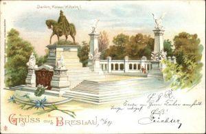 wx34134 Breslau Niederschlesien Breslau Denkmal Kaiser Wilhelm I x Kategorie. Wroclaw Alte Ansichtskarten