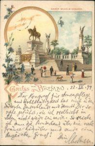 wx34645 Breslau Niederschlesien Breslau Kaiser Wilhelm Denkmal x Kategorie. Wroclaw Alte Ansichtskarten