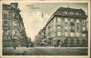 wx37891 Gleiwitz Gliwice Gleiwitz Wilhelmstrasse  Deutsche Bank * Kategorie. Gliwice Alte Ansichtskarten