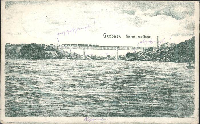Grodno Bahn Bruecke x