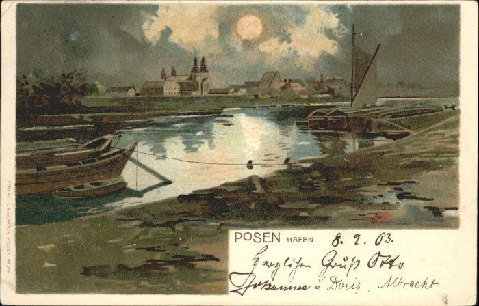 Posen Poznan Posen Hafen x / Poznan /
