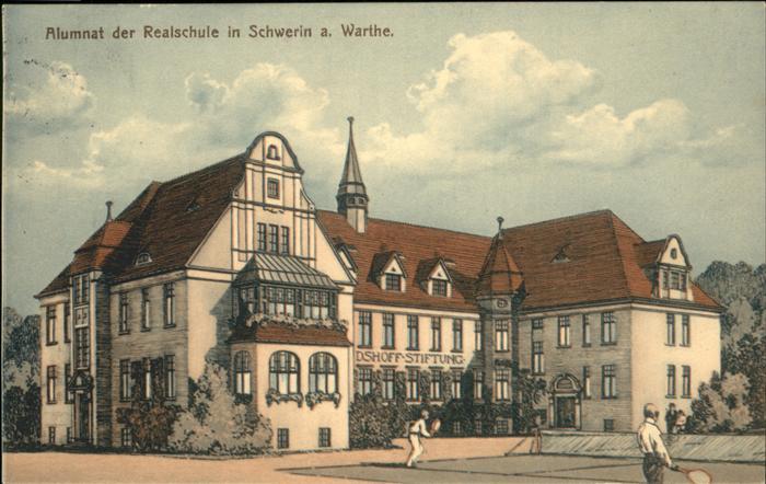 wx51261 Schwerin Warthe Alumnat Realschule Kategorie. Skwierzyna Alte Ansichtskarten