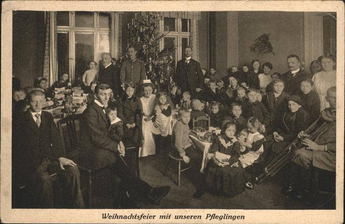 wx57200 Breslau Niederschlesien Breslauer Krueppelheim Schule Werkstaetten Gaertnerweg 11 Weihnachtsfeier Kategorie. Wroclaw Alte Ansichtskarten
