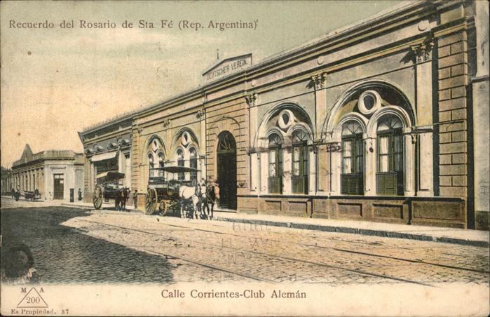 Rosario Santa Fe Calle Ccrrientes Club Aleman Recuerdo del Rosario de Sta Kat. Rosario
