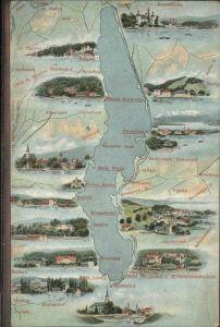 Maria Woerth Woerthersee Landkarte, St. Stefan, Aich / Maria Woerth /Klagenfurt-Villach