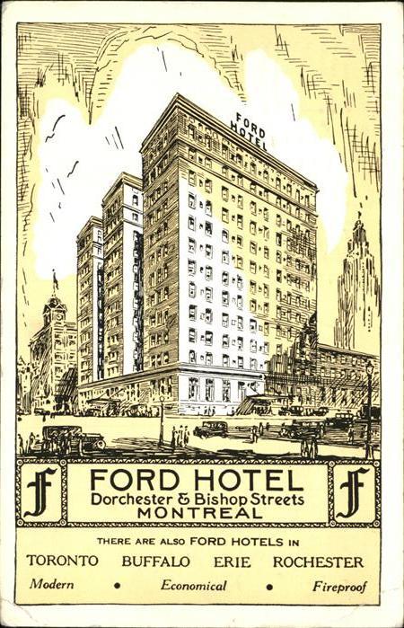 wx58559 Montreal Quebec Ford Hotel Montreal Kategorie. Montreal Alte Ansichtskarten