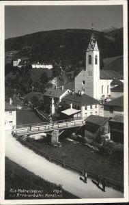 Matrei Brenner Brennerbahn Kirche Kat. Matrei am Brenner
