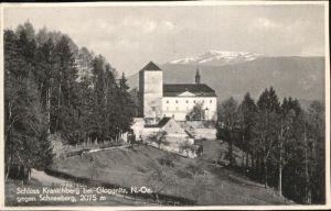 Gloggnitz Niederoesterreich Schloss Kranichberg / Gloggnitz /Niederoesterreich-Sued