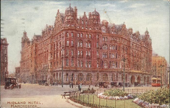 Manchester Midland Hotel Strassenbahn  Kat. Manchester