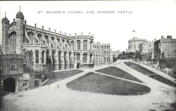 wz05655 Windsor Castle St. Georges Chapel Kategorie. United Kingdom Alte Ansichtskarten