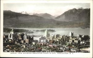 Vancouver British Columbia View Showing Brockton Point City Kat. Vancouver