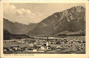 wz40455 Reutte Tirol Lachtal Kirche Kategorie. Reutte Alte Ansichtskarten