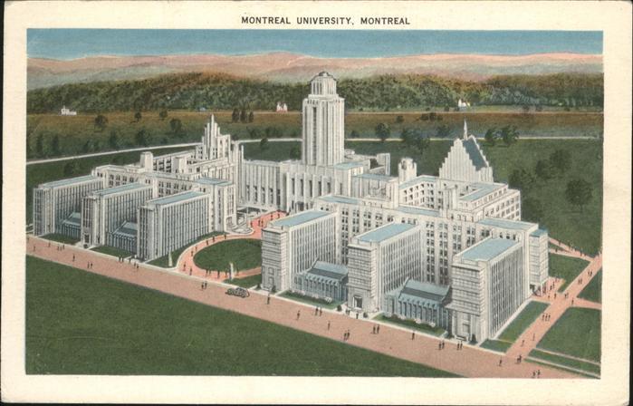 wz40661 Montreal Quebec Montreal University Kategorie. Montreal Alte Ansichtskarten