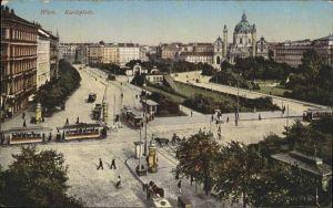 Wien Karlsplatz Strassenbahn Kat. Wien