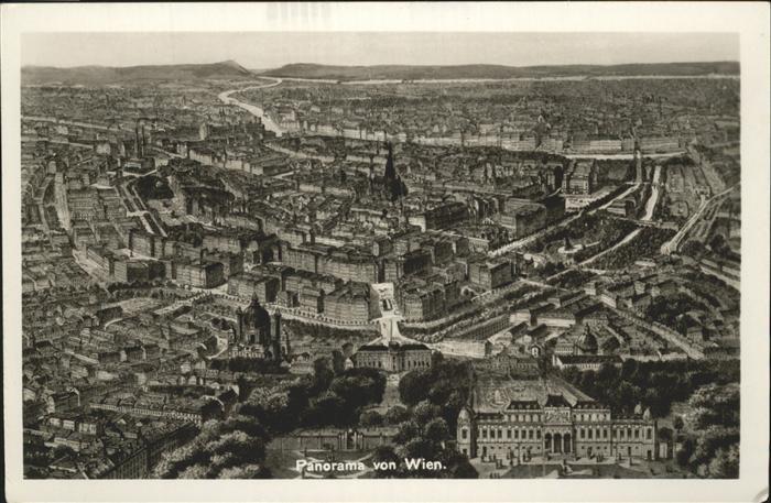 Ansichtskarte Wien Luftbild 1966 Ansichtskarten Sammeln & Seltenes