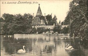 Laxenburg Lustschloss Schwaene Teich Kat. Laxenburg