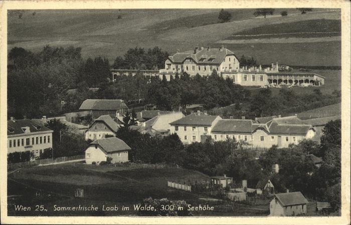Wien Oesterreich Sommerfrische Laab im Walde Feldpost Kat. Wien