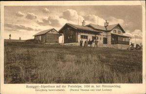 Rosegg Pretulalpe Muerzzuschlag Alpenhaus Rosegger Kat. Rosegg