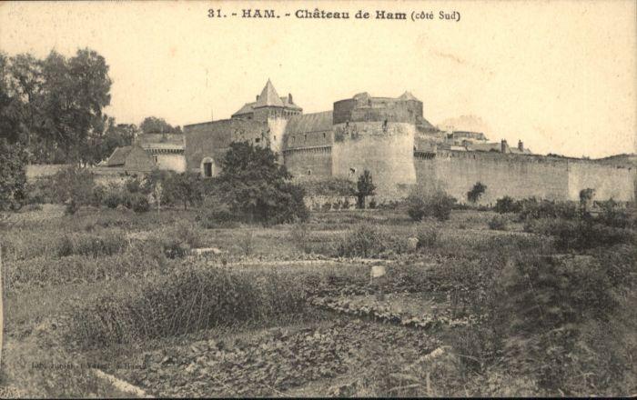 Ham Somme Ham Chateau Ham * / Ham /Arrond. de Peronne
