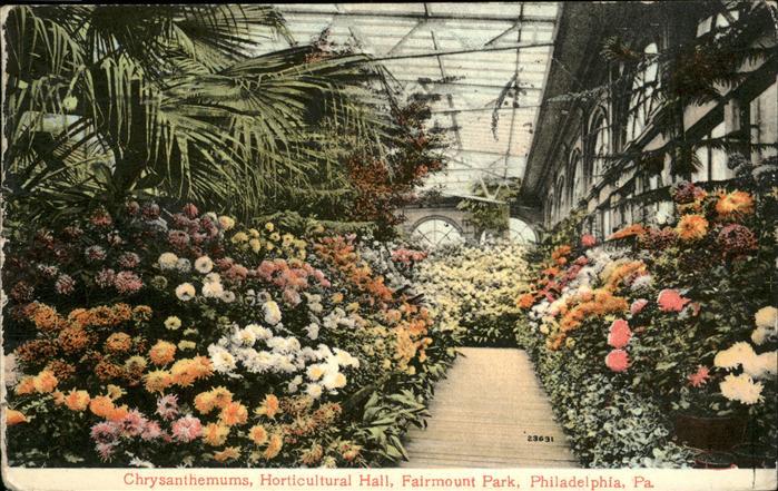 Philadelphia Horticultural Hall Fairmount Park Kat. Storkow Mark