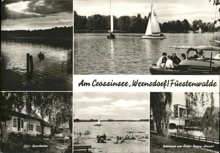 Fuerstenwalde Spree Crossinsee Wernsdorf Boot  / Fuerstenwalde /Oder-Spree LKR