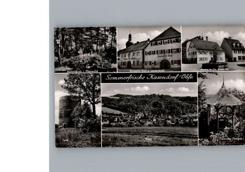 Kasendorf Oberfranken Brauerei Duell&Lauterbach Gasthof Schwarzes Ross / Kasendorf /Kulmbach LKR
