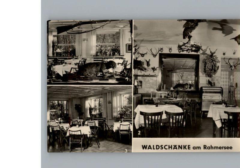Wandlitz Restaurant Cafe Zur Waldschaenke / Wandlitz /Barnim LKR Nr ...