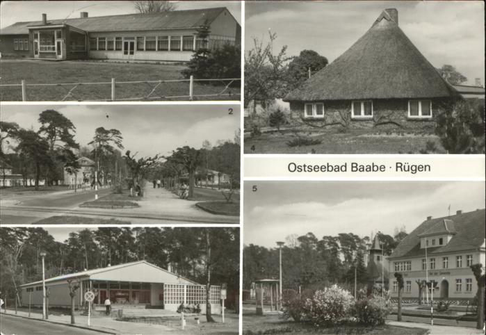Baabe HO Gaststaette Am See Kaufhalle Fischerhaus Rat der Gemeinde Kat. Baabe