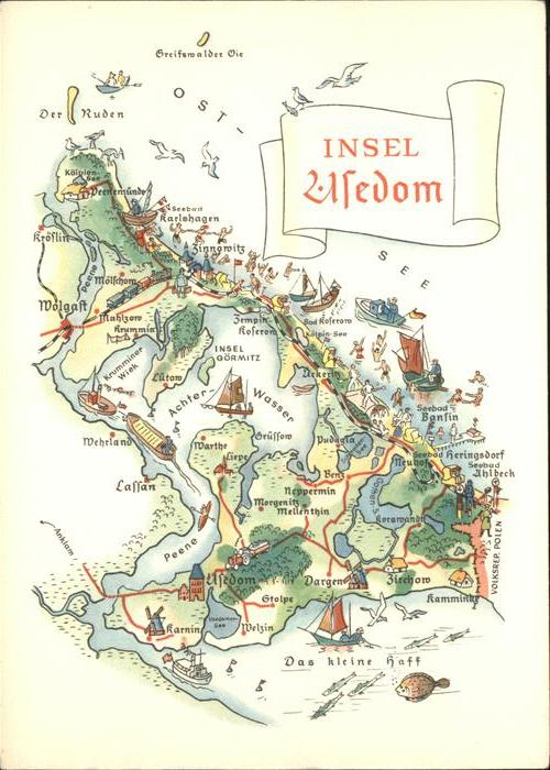 Usedom Topogr Karte Der Insel Kat Usedom Nr Kk00802 Oldthing