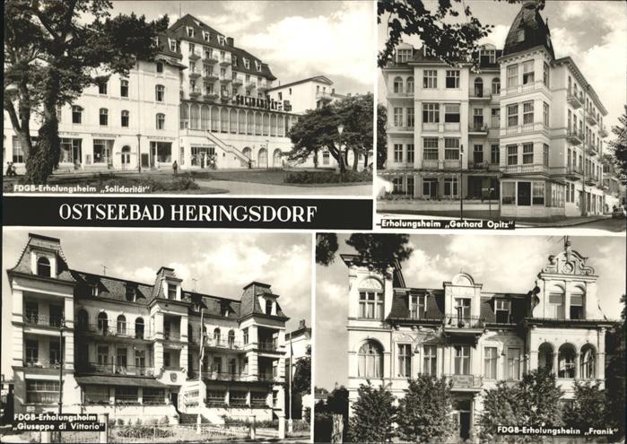 Heringsdorf Ostseebad FDGB Erholungsheim Gerhard Opitz FDGB-Erholungsheim Solidaritaet FDGB-Erholungsheim Franik