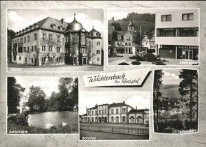 Waechtersbach Bahnhof Schlossteich Schloss Kat. Waechtersbach