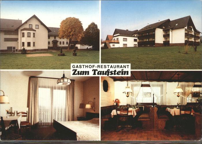 Kalbach Rhoen Restauarnt Pension Fam. Aland Zum Taufstein Kat ...
