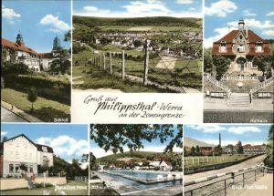 Philippsthal Werra Zonengrenze Rathaus Vacha Schwimmbad Schloss Kat. Philippsthal (Werra)