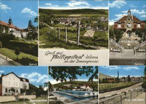 Philippsthal Werra Rathaus Vacha Geteiltes Haus Schwimmbad Schloss Kat. Philippsthal (Werra)