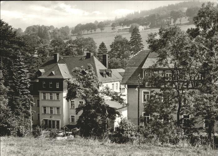 Baerenstein Annaberg-Buchholz Erholungsheim des VEB Chemische Werke Buna Kat. Baerenstein