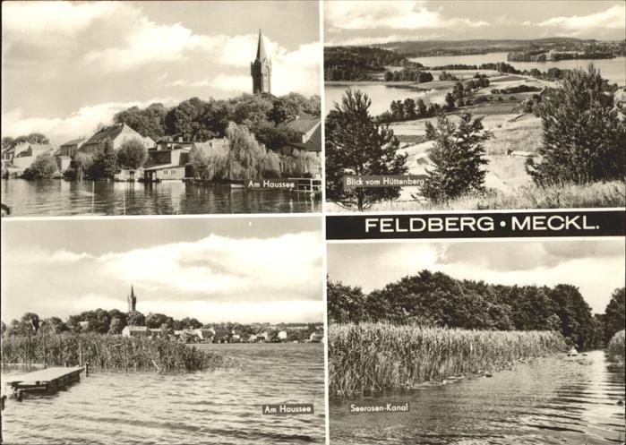 Feldberg Mecklenburg Feldberger Seenlandschaft Haussee Huettenberg Seerosen Kanal Kat. Feldberger Seenlandschaft