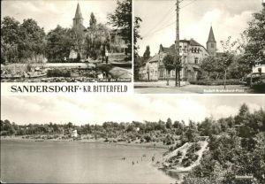 Sandersdorf Sachsen-Anhalt Rudolf Breitscheid Platz Strandbad Platz d. Freiheit Kat. Sandersdorf Sachsen-Anhalt
